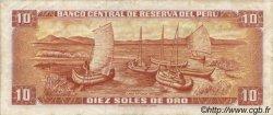 10 Soles de Oro PÉROU  1976 P.112 TTB