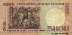 5000 Soles de Oro PÉROU  1981 P.117b TTB