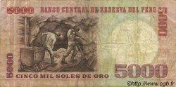 5000 Soles de Oro PÉROU  1985 P.117c TB