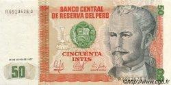 50 Intis PÉROU  1987 P.131b SUP