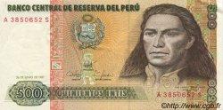 500 Intis PÉROU  1987 P.134b SUP