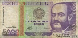 5000 Intis PÉROU  1988 P.137 TB