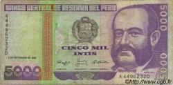 5000 Intis PÉROU  1988 P.139 TB