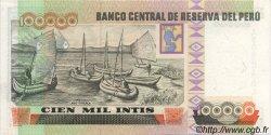 100000 Intis PÉROU  1989 P.145 SUP