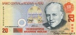 20 Nuevos Soles PÉROU  1991 P.152 pr.SPL