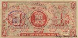 1 Libra PÉROU  1921 PS.606b pr.NEUF