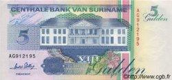 5 Gulden SURINAM  1996 P.136b NEUF
