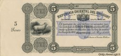 5 Pesos URUGUAY  1870 P.A111 SPL