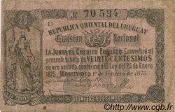 20 Centesimos URUGUAY  1875 P.A116 TB+