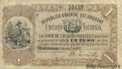 1 Peso URUGUAY  1875 P.A118 TB+