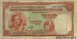 1 Peso URUGUAY  1935 P.028a B+