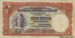 100 Pesos URUGUAY  1935 P.031b TB