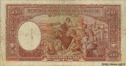 500 Pesos URUGUAY  1935 P.032a TB