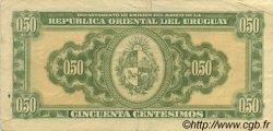 50 Centesimos URUGUAY  1939 P.034 TTB