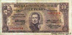 10 Pesos URUGUAY  1939 P.037c TB