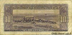 10 Pesos URUGUAY  1939 P.037d TB