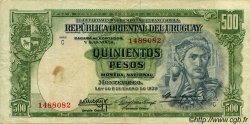 500 Pesos URUGUAY  1939 P.040b pr.TTB