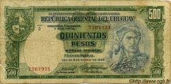 500 Pesos URUGUAY  1939 P.040c B à TB