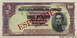 1000 Pesos URUGUAY  1939 P.041s SPL