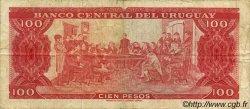 100 Pesos URUGUAY  1967 P.047a TB