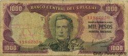 1000 Pesos URUGUAY  1967 P.049a B