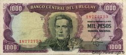 1000 Pesos URUGUAY  1967 P.049a pr.TTB