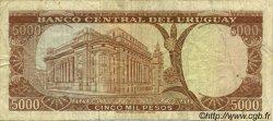 5000 Pesos URUGUAY  1967 P.050a TB