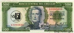 0,5 Nuevo Pesos sur 500 Pesos URUGUAY  1975 P.054 SUP