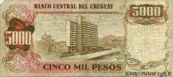 5 Nuevos Pesos sur 5000 Pesos URUGUAY  1975 P.057 TTB
