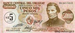 5 Nuevos Pesos sur 5000 Pesos URUGUAY  1975 P.057 pr.NEUF