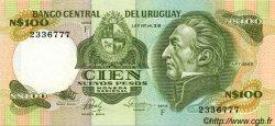 100 Nuevos Pesos URUGUAY  1986 P.062c SUP