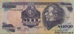 1000 Nuevos Pesos URUGUAY  1992 P.064Ab B