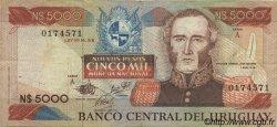 5000 Nuevos Pesos URUGUAY  1983 P.065a pr.TTB