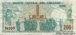 200 Nuevos Pesos URUGUAY  1986 P.066 pr.TTB