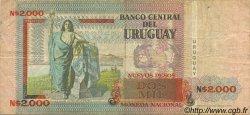 2000 Nuevos Pesos URUGUAY  1989 P.068 TTB