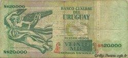 20000 Nuevos Pesos URUGUAY  1989 P.069a TB
