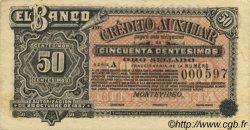 50 Centesimos URUGUAY  1888 PS.162r SPL