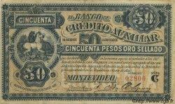 50 Pesos URUGUAY  1888 PS.165a TTB