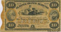 10 Pesos URUGUAY  1871 PS.172a SUP