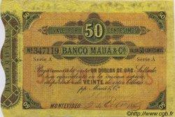 50 Centesimos URUGUAY  1863 PS.262a pr.TTB