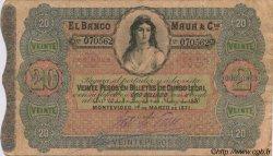 20 Pesos URUGUAY  1871 PS.292 TB