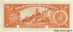 50 Bolivares VENEZUELA  1960 P.044S NEUF