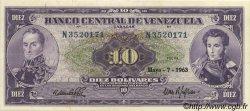 10 Bolivares VENEZUELA  1963 P.045a SPL