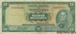 20 Bolivares VENEZUELA  1974 P.046e TTB