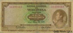 100 Bolivares VENEZUELA  1970 P.048g TB