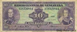 10 Bolivares VENEZUELA  1977 P.051f TB