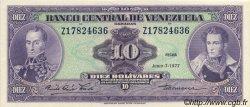 10 Bolivares VENEZUELA  1977 P.051f SPL