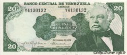 20 Bolivares VENEZUELA  1979 P.053c NEUF