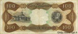 100 Bolivares VENEZUELA  1972 P.055a TTB