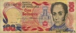 100 Bolivares VENEZUELA  1980 P.059a TB+